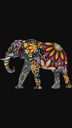 Cross Stitch Pattern for Oonagh = print out and trace design Elephant Quilt, Elephant Love, Indian Elephant Art, Elephant Gif, Dot Painting, Fabric Painting, Elephant Tattoos, Grafik Design, Mandala Art