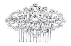 Silber Braut Art Deco Vintage Jahrgang Blumen Designer Hochzeit Abschlussball Haarspange Haarkamm (10cm x 7cm) mit PreciousBags Schutz-Staubbeutel - http://schmuckhaus.online/preciousyou/silber-braut-art-deco-vintage-jahrgang-blumen-x
