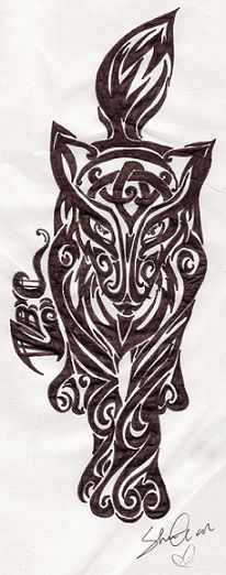 Celtic fox tattoo by ~Anime-Angel-of-Gloom