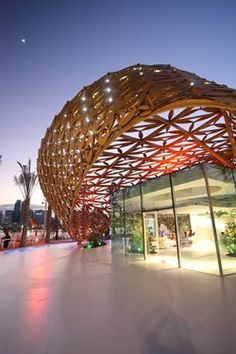 Butterfly Pavilion on Noor Island, Sharjah, 2015 - 3deluxe transdisciplinary design - http://www.archilovers.com/projects/173298?utm_source=lov&utm_medium=email&utm_term=p1_1&utm_content=projects&utm_campaign=lov_news