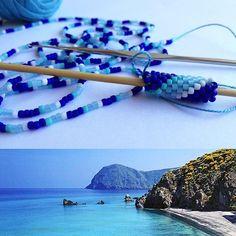 """""""Mi piace"""": 11, commenti: 3 - Creazioni Mary' (@creazioni.mary) su Instagram: """"Ricreare il colore del mare delle isole Eolie....credetemi manca solo l'odore del mare...🌊🏖…"""""""