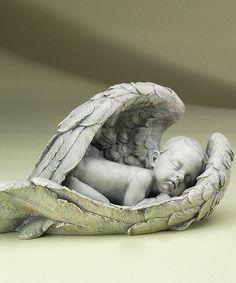 Loving this Sleeping Cherub Statue on #zulily! #zulilyfinds