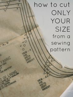 Adventures in Dressmaking: Sewing Circle: How to cut out your size from a pattern and leave it intact