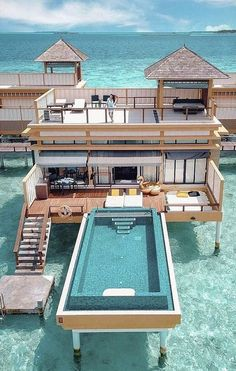 Superb villa in ✨ Be sure that to look at our story posts! Photograph by juju.love Maldives Amazing villa in ✨ Make sure to watch our story posts! Photo by juju. Dream Home Design, My Dream Home, Vacation Places, Dream Vacations, Vacation To Jamaica, Vacation Spots, Villa Am Meer, Dream Mansion, Luxury Homes Dream Houses