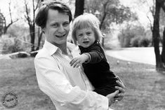 Stellan Skarsgård and young Alexander, 1978