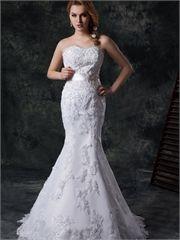 Gorgeous mermaid straps court train beaded lace Fall 2013 Wedding Dresses WDMB0046