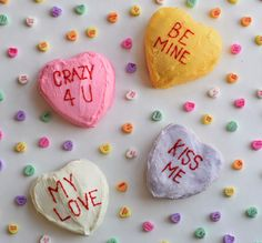 Homemade Conversation Heart Cake Recipe | http://www.publiclivessecretrecipes.com/2015/02/conversation-hearts-cake-homemade.html