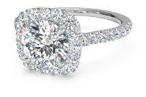 French-Set Halo Diamond Band Engagement Ring – 1321   Ritani Wedding and Engagement Rings
