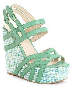 Nine West Shoes, Bardough Wedge Sandals - Shoes - Macy's
