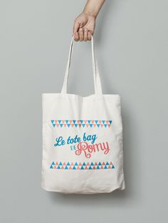 Tote bag coton personnalisé - Summer triangles