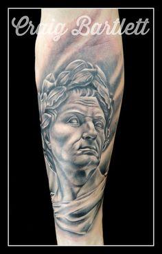 Julius Caesar statue portrait by Craig Bartlett at Adorned Tattoo, Dorset UK.https://www.facebook.com/adornedtattoo