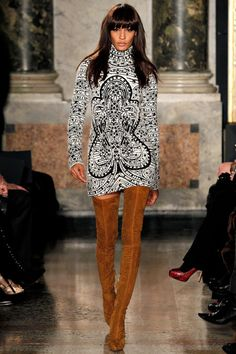 Joan Smalls@ Emilio Pucci Fall/Winter 2013 Ready-to-Wear Collection via Designer Peter Dundas;