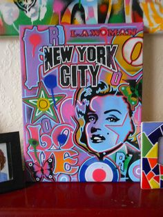 pop art painting on canvasstencilsposca by AbstractGraffitiShop, $70.00