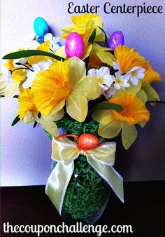 DIY Easter centerpiece - clever idea and frugal too from @Dana Curtis Zeliff
