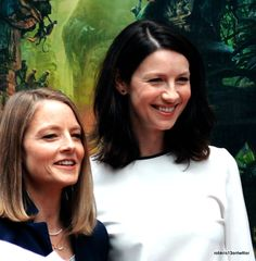 Caitriona Balfe and Jodie Foster. Two awesome women!