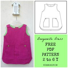 Bouganville Dress - FREE PDF SEWING PATTERN - 2 to 6 Y