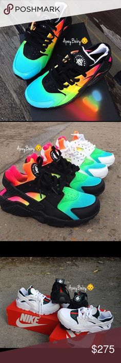 "Custom Multiple Colors ""Huaraches"" For All orders Please Follow Me On My Instagram Page At Apey.Baby  Serious Buyers Only Contact & Follow custom Kicks Shoes Sneakers"