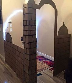 Here's a wonderful way of encouraging your children to pray. Build (and decorate!) a small place of worship in the house :)