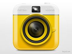 I love the camera because it captures moments and unforgettable memories and I like camera in this picture because it has yellow color and I like this color.