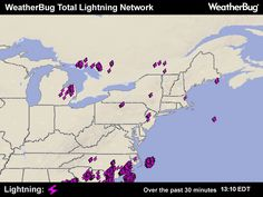 Wilmington Delaware Lightning Map Map   i would say...it's coming our way!  thanks weatherbug for a glimpse!