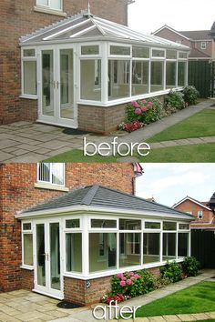 Beautiful Before and Afters; Installations of Supalite Roofing: A Fantastic Light-weight Solution offering a Solid Tiled Effect Roofing option to your Conservatory, not only Does it Transform your Conservatory into a usable, all-year-round space, it adds an energy efficient solution, compared to that of a Traditional Glass or Poly-Carb Conservatory Roof!