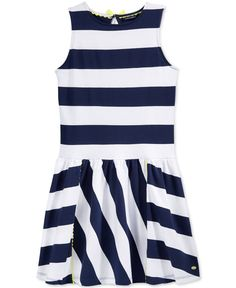 Tommy Hilfiger Girls' Rugby Striped Sleeveless Dress