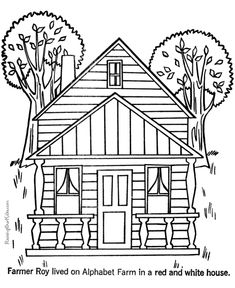 houses to print and color these free printable house coloring pages and sheets of farm pictures are fun for kids
