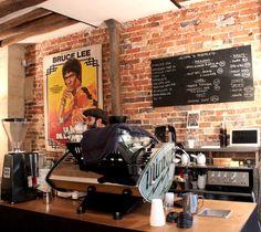 FRAGMENTS | sundaysinparis Cafe Menu, Cafe Bar, Cafe Idea, Coffee Carts, Bistros, Coffee Machines, Coffee Shop Design, Cafe Shop, Bakery Cafe