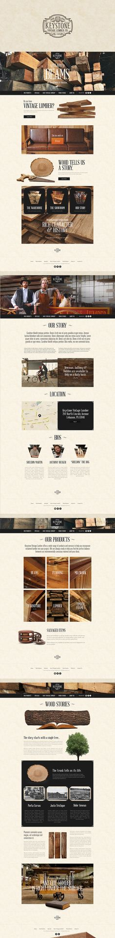 Keystone Vintage Lumber Company by Justin Freiler #website #design #digital