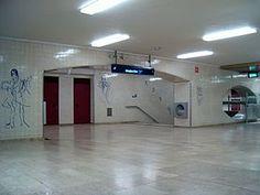 Júlio Pomar | Estação / Station Alto dos Moinhos | Metropolitano de Lisboa / Lisbon Underground | 1988 #Azulejo #JúlioPomar #MetroDeLisboa