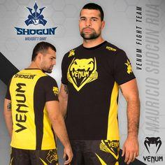 "Venum Shogun Team ""Shockwave"" T-Shirt - Black/Yellow Mma Shirts, Mma Clothing, Black N Yellow, Bad Boys, Shorts, Mens Tops, T Shirt, Clothes, Shopping"