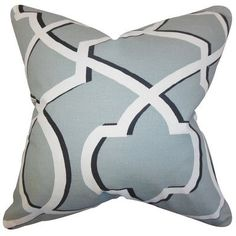 The Pillow Collection Curan Geometric Bedding Sham Size: Standard, Color: Cool Gray