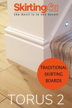 This is our second variation of the ever popular skirting board, with a larger 'scallop' shape beneath the round. This is important to note if you are trying to match an existing Torus design! Mdf Skirting, Skirting Boards, Close Up, Distance, Larger, Korean Skirt, Note, Shape