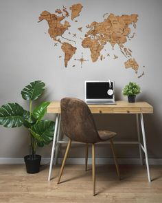 Home Decor Wooden World Map Rustic Wall Decor Printed Boyfriend Anniversary Gifts, Boyfriend Gifts, Modern Centerpieces, Focal Points, Rustic Wall Decor, Smiley, 3d Printing, How Are You Feeling, Map