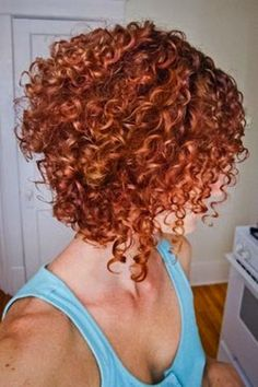 Stacked spiral curls (My favorite haircut!) - Short hair styles, Medium hair styles, Spiral curls hairstyle / I have been considering getting spirals again. Short Permed Hair, Short Curly Hairstyles For Women, Angled Bob Hairstyles, Curly Hair Cuts, Curly Hair Styles, Natural Hair Styles, Perm Hairstyles, Bob Haircuts, Short Curls