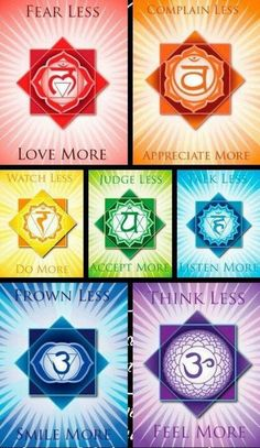 Chakra affirmations... re-pinned by http://Reiki-Master-Training.com