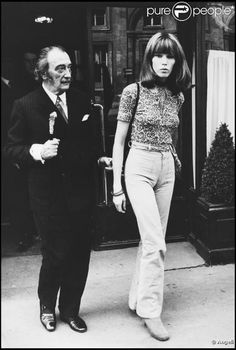 SALVADOR DALI.....70s......WITH AMANDA LEAR..