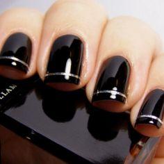 New Years Eve Nail Art Inspiration - Black 14