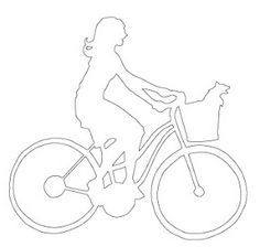 Paper Cutting Templates | Here's your free papercutting template: End of Summer Bike Ride