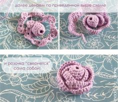 How to Crochet: This Mom's Top 37 Video Tutorials Yarn Flowers, Knitted Flowers, Crochet Flower Patterns, Crochet Designs, Bead Crochet, Irish Crochet, Crochet Earrings, Diy Crafts Crochet, Crochet Classes