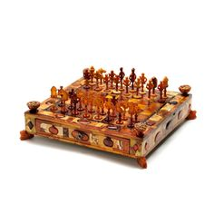Amber court gameboard, with complete set of amber chessmen, Michael Redlin, Gdańsk (Danzig), ca 1700 History Of Chess, Backgammon, Play Therapy Techniques, Brass Fittings, Amber Jewelry, Russian Art, Metropolitan Museum, Art Decor, Decoration