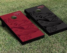 Show your team spirit with this officially licensed, regulation-sized Bridgewater State BSU Bears Watermark Version Cornhole game set! Your game is ready to pla