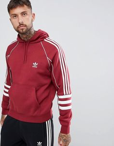 Buy adidas Originals Authentic Hoody In Red at ASOS. With free delivery and return options (Ts&Cs apply), online shopping has never been so easy. Get the latest trends with ASOS now. Mens Back, Pant Shirt, Adidas Hoodie, Mens Sweatshirts, Men's Hoodies, Sport Outfits, Adidas Originals, Menswear, Sweatshirts