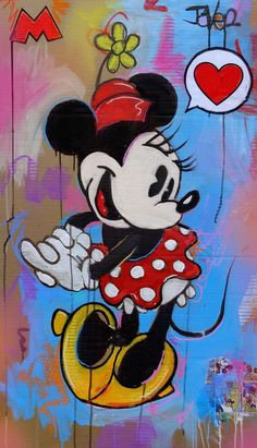 Love Drawings, Art Drawings, Minnie Mouse Images, Mickey Mouse, Unicornios Wallpaper, Art Journal Inspiration, Crafts For Teens, Medium Art, Fun Projects
