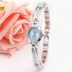 New Watches Women Fashion Casual Clock Silver Elegant Bracelet Watch Montre Femme Women's Wrist Quartz Watch Relojes Mujer 2016