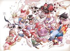 Hey, all my faves are on here! Meta Knight, Kirby, Shadow Kirby, Daroach, and Bio Spark! Yaaaay!