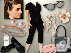 Classic Audrey Hepburn Style! Aubrey Hepburn Style, Audrey Hepburn, Estilo Gamine, Marilyn Monroe Outfits, Black And White Converse, Chic Summer Style, Gamine Style, Divas, French Chic