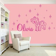 GIRLS-NAME-Bedroom-Wall-Art-Decal-Sticker-My-Little-Pony-Friendship-Characters