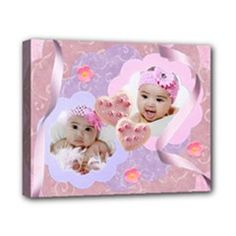"""pink & purple swirls 10x8 canvas stretched by Ivelyn - Canvas 10"""" x 8"""" (Stretched) Insert your own photos"""
