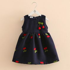 Check out my new Toddler Girls and Girl's Cherry Print High-waist Sleeveless Princess Dress , snagged at a crazy discounted price with the PatPat app. Baby Girl Frocks, Frocks For Girls, Kids Frocks, Little Girl Dresses, Girls Dresses, Baby Dresses, Girls Frock Design, Baby Dress Design, Baby Girl Dress Patterns